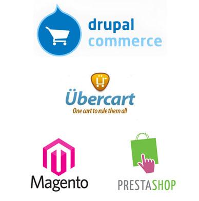 ecommerces tiendas online en Drupal Commerce, Ubercart, Magento, Prestashop