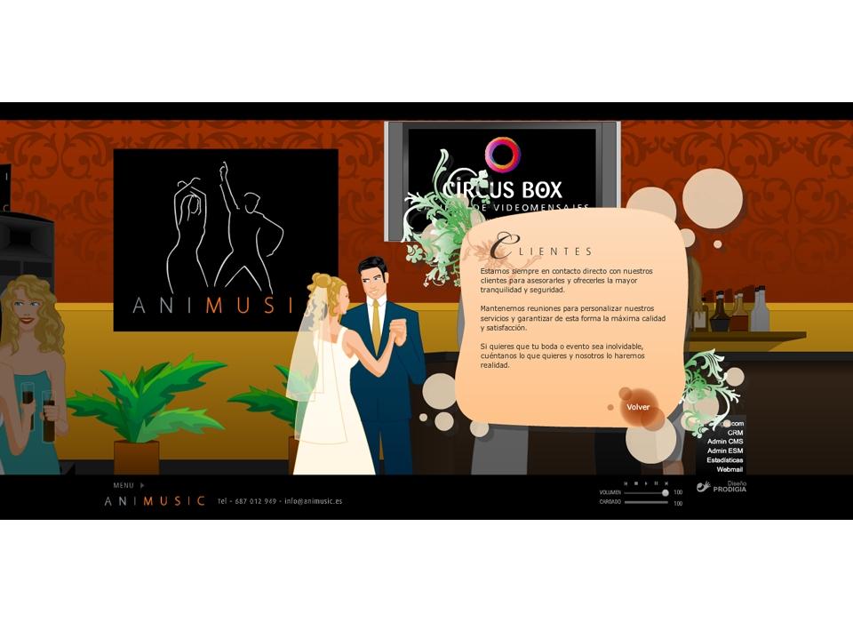"""Sección """"Clientes"""" - Sitio Web Animusic"""