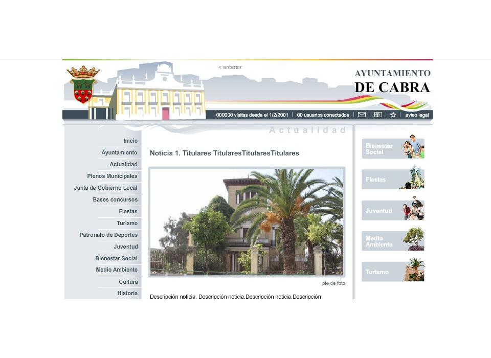 Portal Ayuntamiento de Cabra