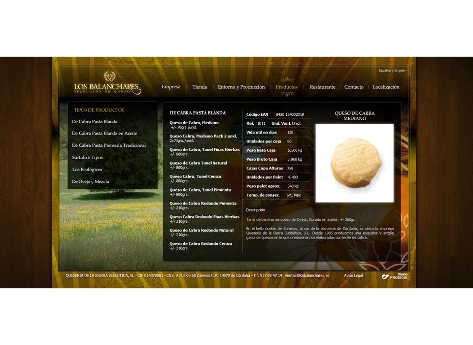 web de queso los balanchares