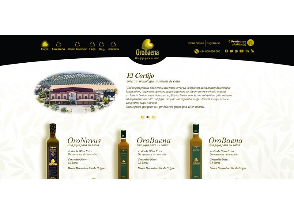 orobaena aceite web ecommerce