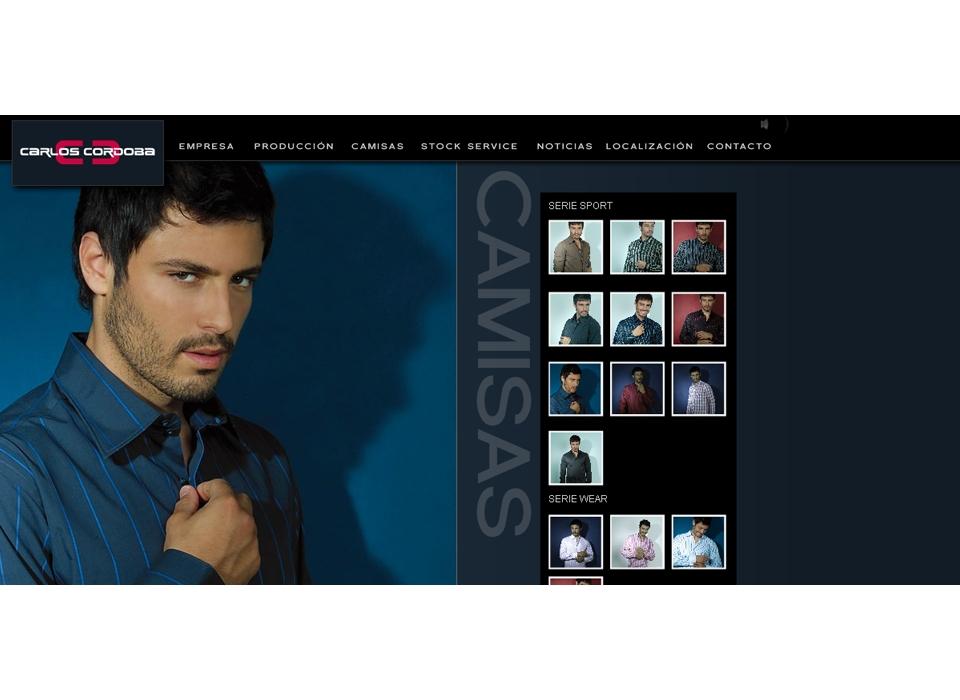 """Sección """"Camisas"""" - Sitio Web - Carlos Córdoba"""