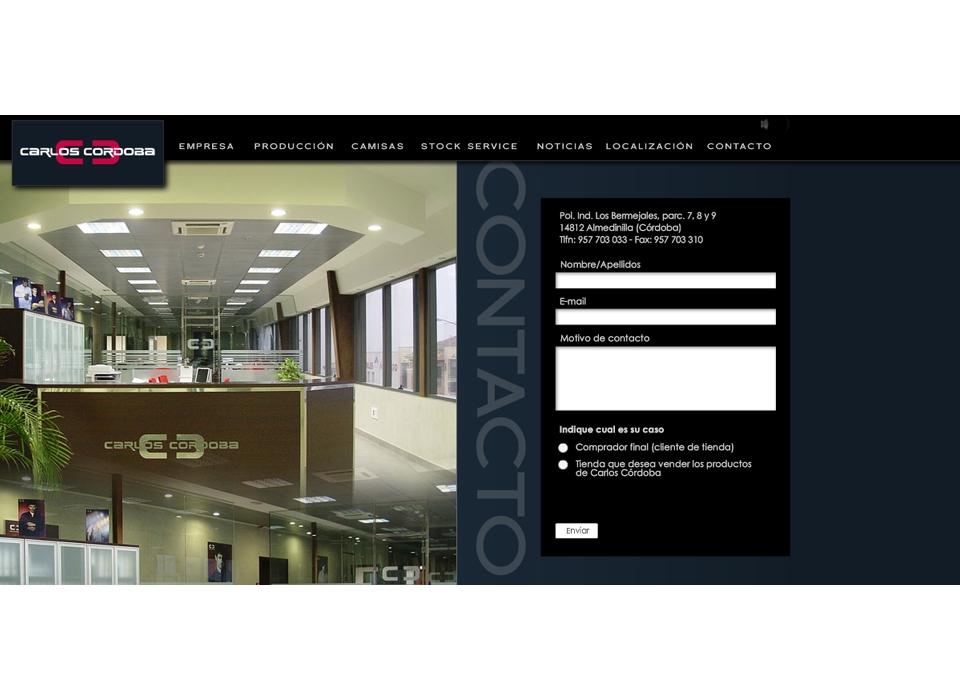 """Sección """"Contacto"""" - Sitio Web - Carlos Córdoba"""