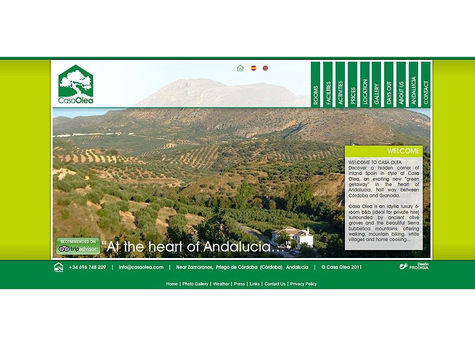 Web Casa Olea Turismo Rural