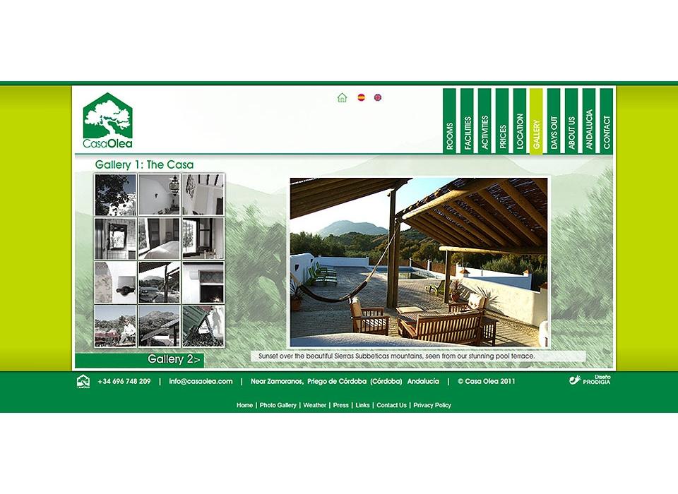 Web alojamiento rural Casa Olea