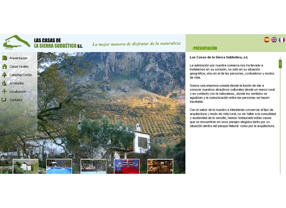 Página principal - Sitio Web Casas de la Subbética