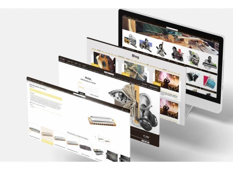 Ebanomusic diseño ecommerce