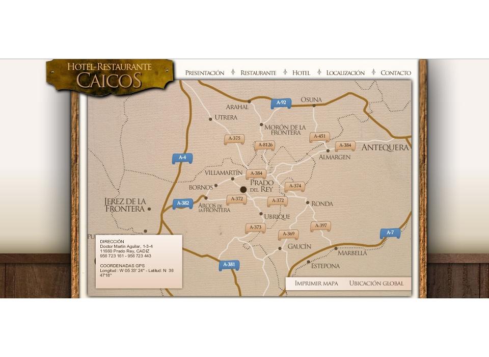 Localización Prado del Rey