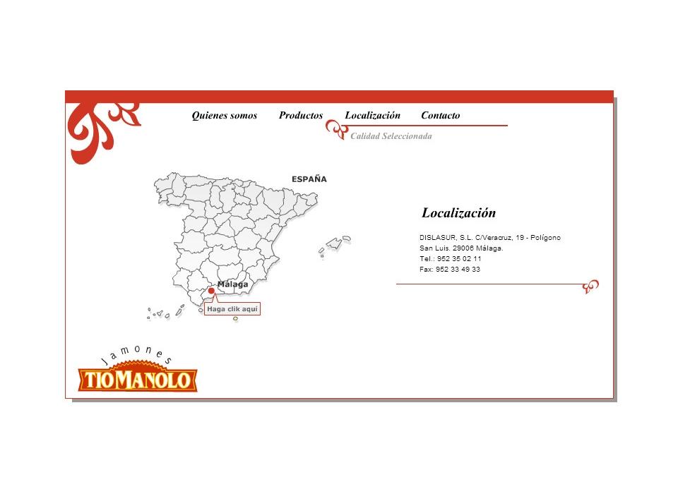 Contacto Dislasur - Jamones Tio Manolo