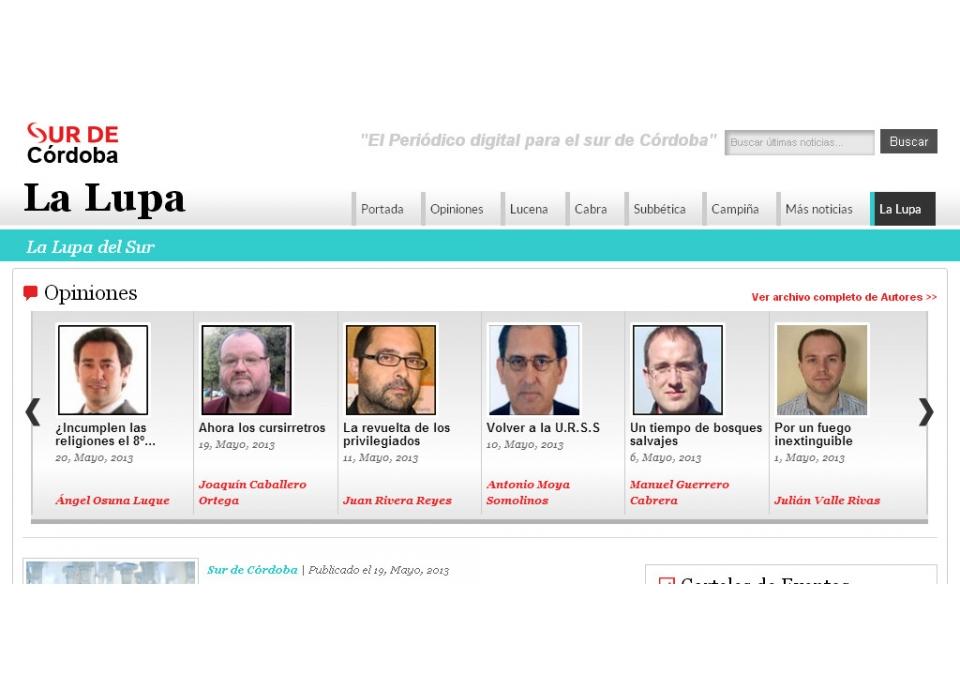 La Lupa, Oponiones periódico on line sur de Córdoba