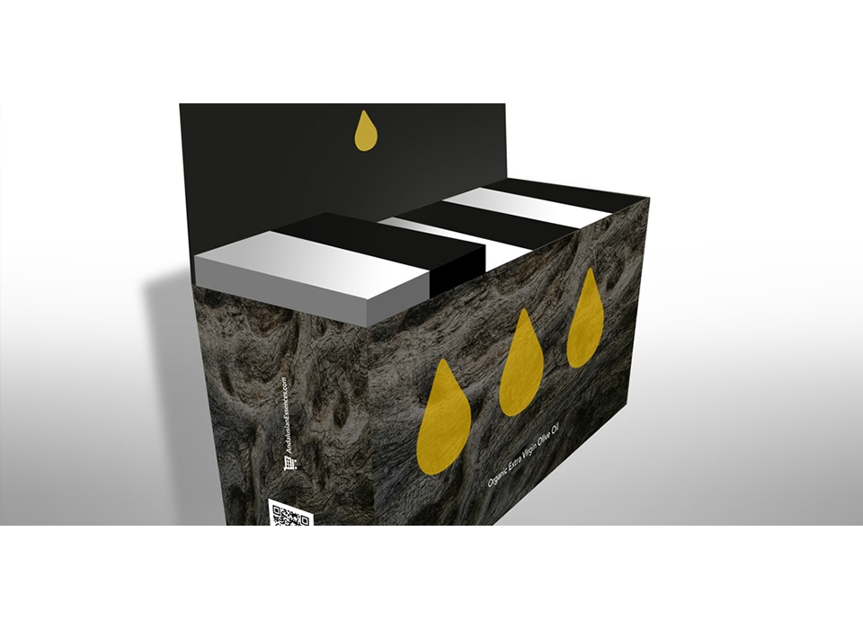 distribución armonium essences aceite caja packaging virgen extra