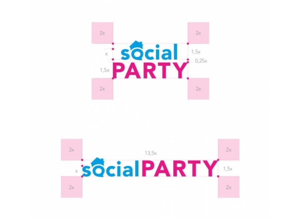 SocialParty logotipo construcción