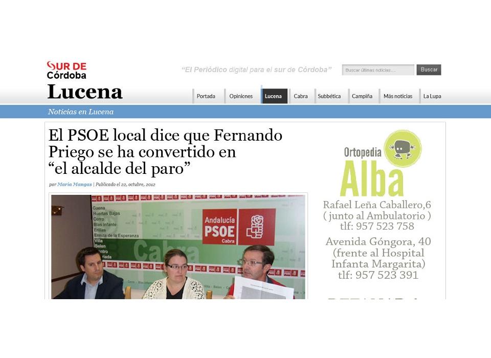 Periódico Sur de Córdoba - Lucena