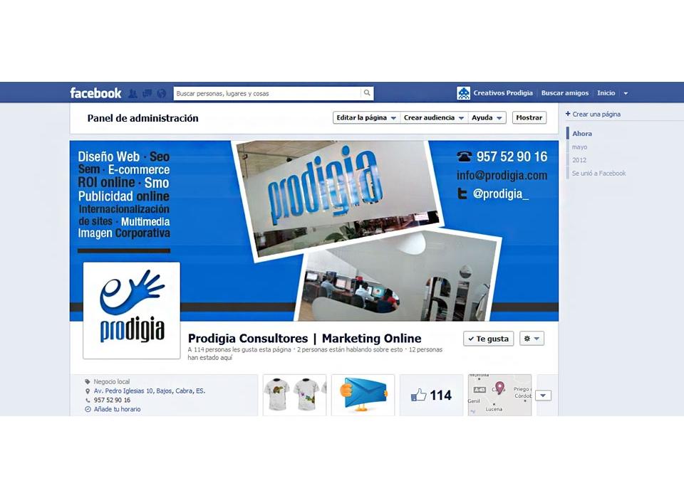 Captura Facebook Prodigia