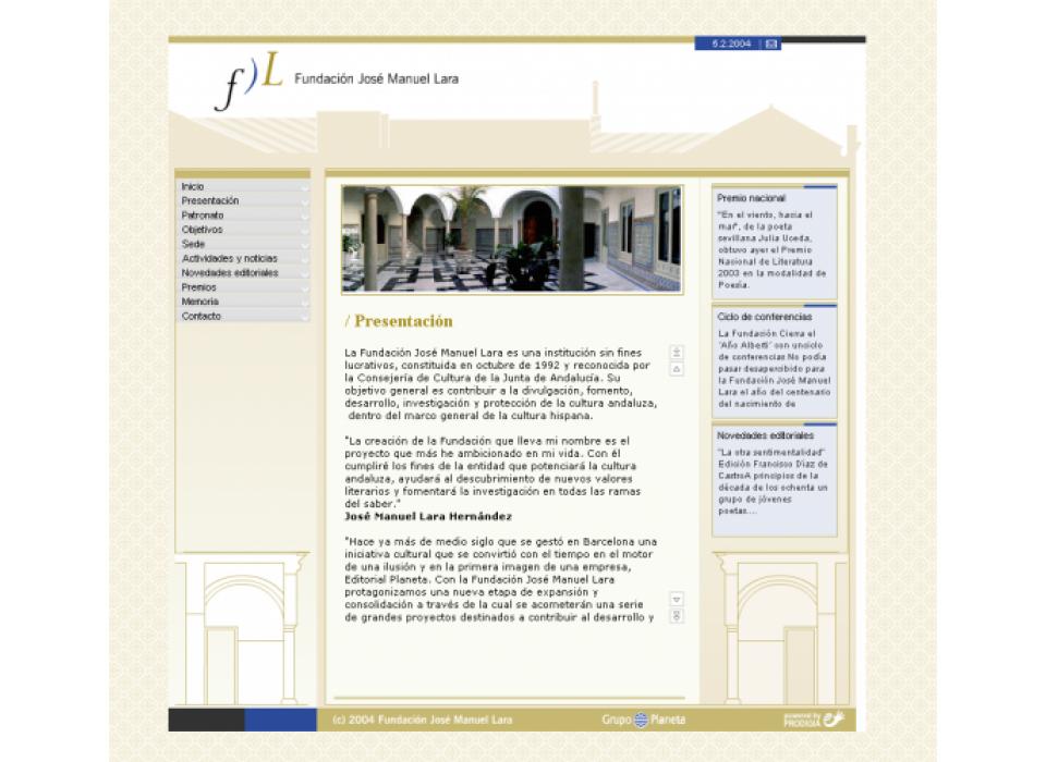 Portal Fundación José Manuel Lara