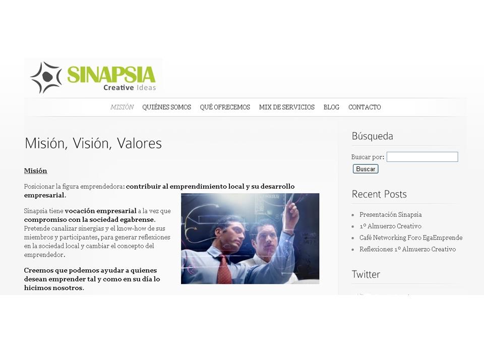 """Sección """"Misión"""" - Sitio web Sinapsia Capital"""