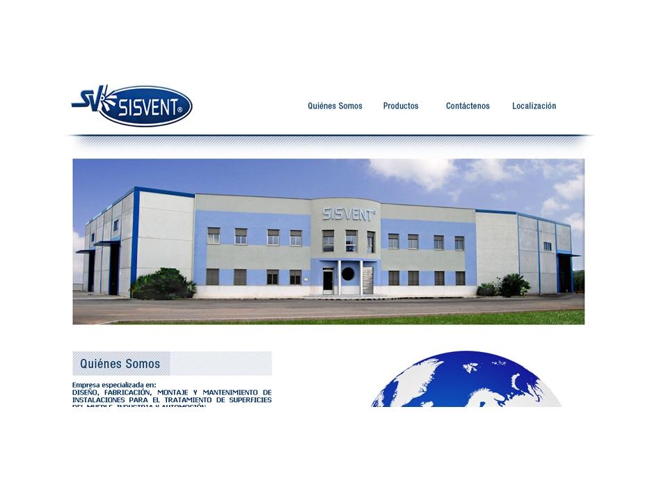 Página principal - Sitio web Sisvent
