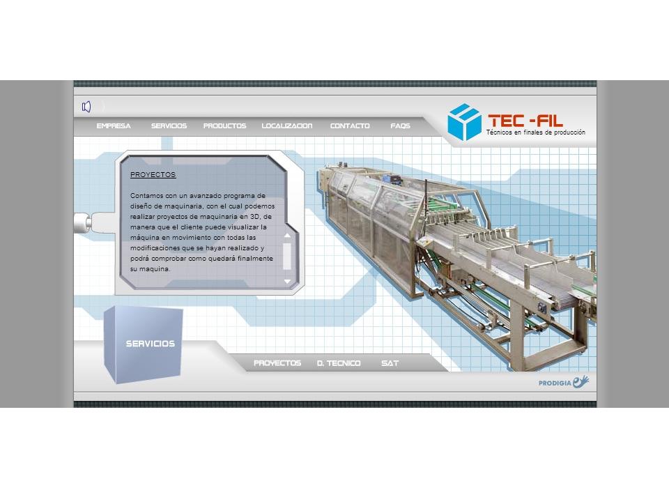 Web Tecfil - Tecnicos en Finales de la Produccion