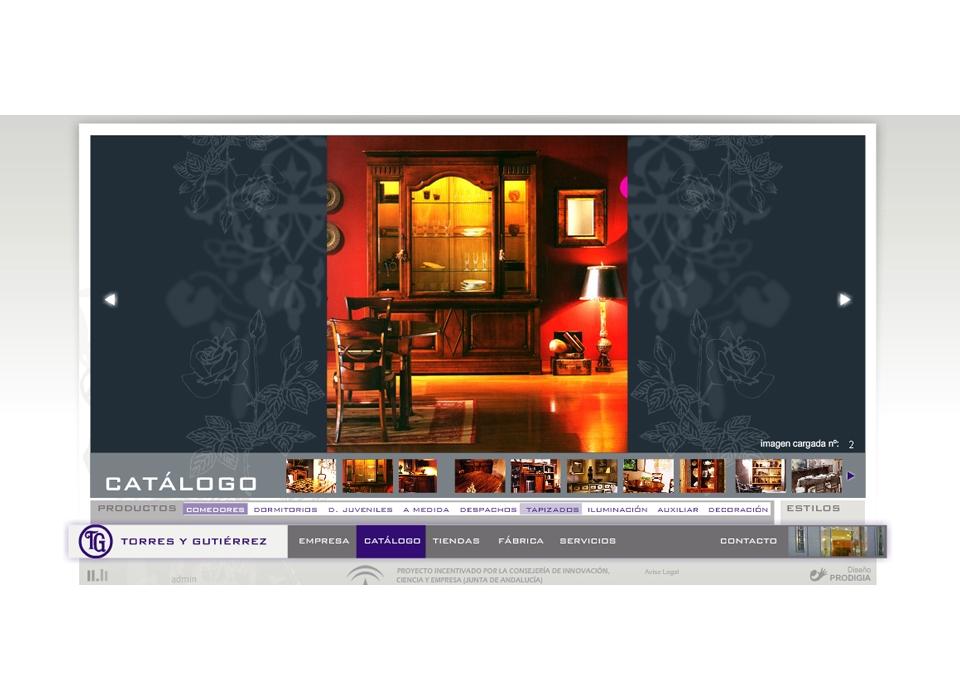 Proyecto de dise o web para muebles torres y gutierrez for Muebles andalucia cordoba
