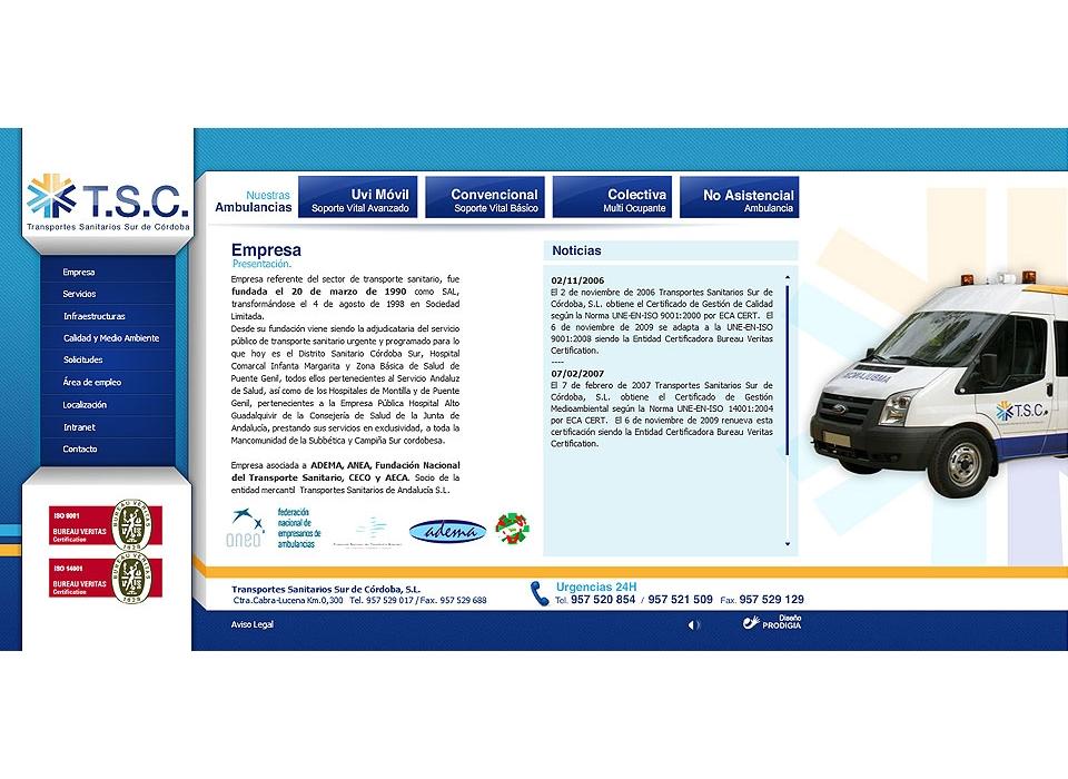 TSC transporte sanitario