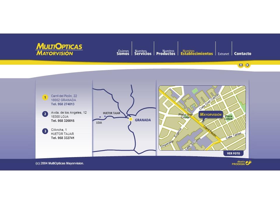 Contacto Opticas Mayorvision Granada, Loja y Huetor Tájar