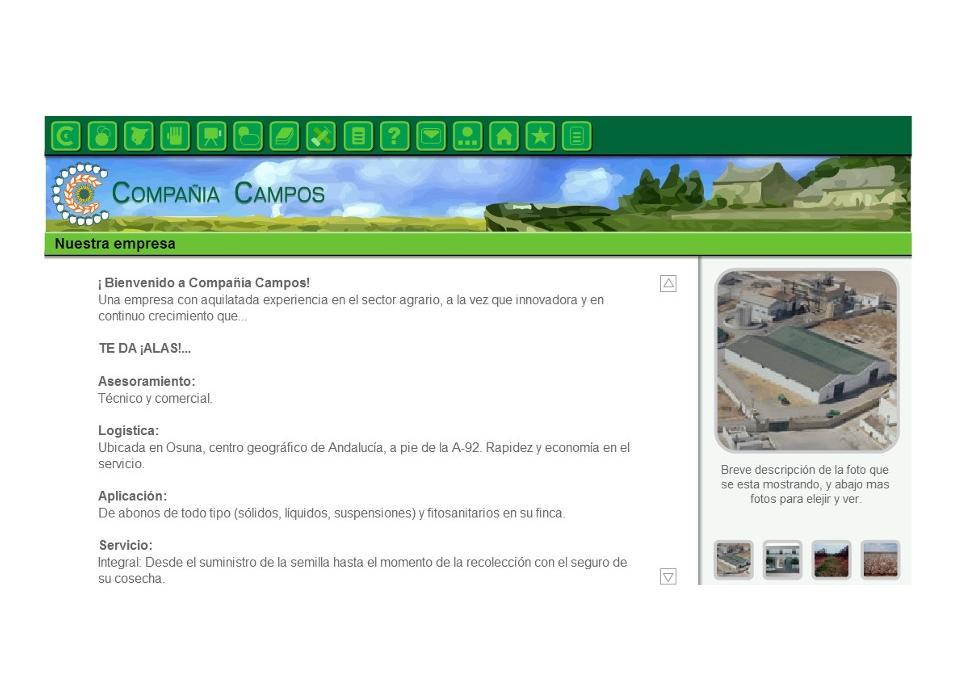 web Compañía Campos, S.A.