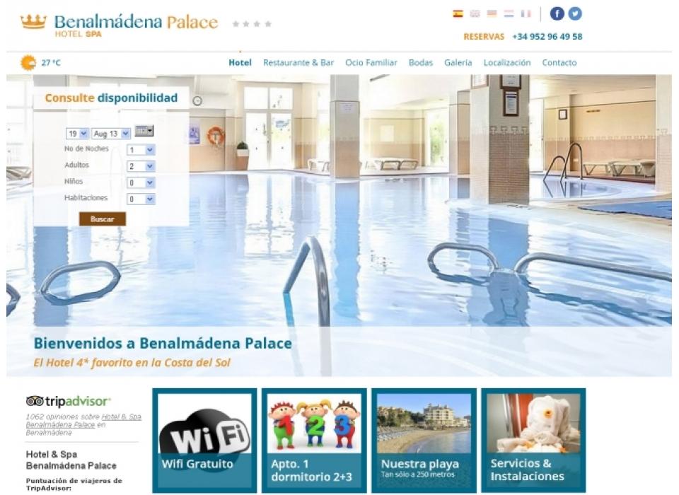 Proyecto de dise o web para hotel benalm dena palace for Hotel diseno malaga