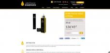 pagina de producto cosmetica aceite