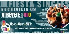 Flyer fiesta singles Nochevieja Atrévete Solo viajes singles