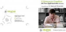 tarjeta corporativa Sinapsia y ponencia Manuel Pimentel