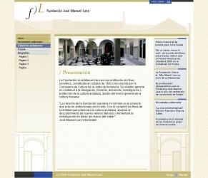 Captura Portal Fundación José Manuel Lara