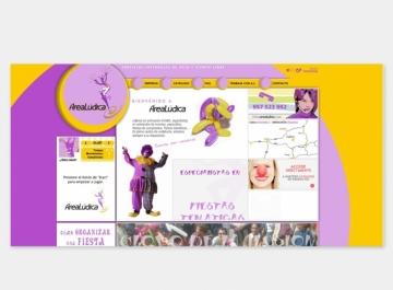 Área Lúdica Sitio web
