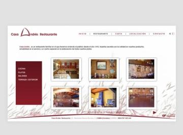 Diseño Web Casa Andrés
