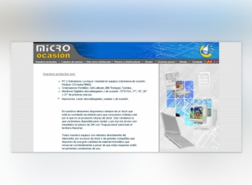 Microocasión Sitio Web