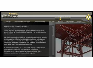 Montacargas Sansón Sitio Web