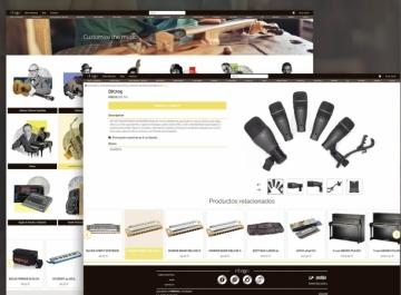 Ébano Music - diseño web