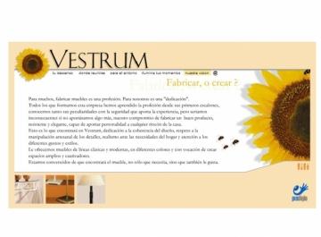 Vestrum Artesanía Sitio Web captura
