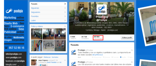 Twitter Prodigia Consultores